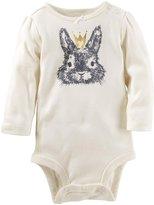Osh Kosh Rabbit Print Bodysuit - White - 9M - 9 Months