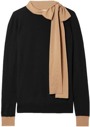 Marni Tie-neck Two-tone Wool Sweater