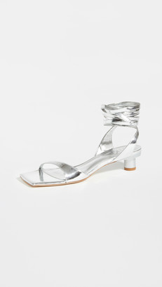 Tibi Jiro Metallic Sandals