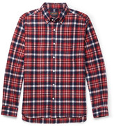 Beams Button-down Collar Cotton-flannel Shirt - Red