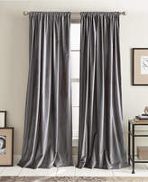 "DKNY Modern Textured Velvet 50"" x 84"" Pole Top Pair of Window Panels"