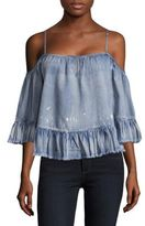Saks Fifth Avenue Vena Cold-Shoulder Top