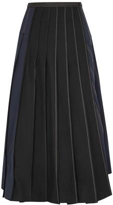 BODICE Panelled Twill Wrap Skirt