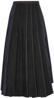 BODICE Panelled twill wrap skirt