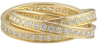 Cartier pre-owned 18kt yellow gold Trinity diamond ring