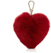 Furla Bubble Pom-Pom Heart Fur Bag Charm