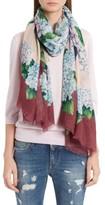 Dolce & Gabbana Women's Hydrangea Print Silk Scarf