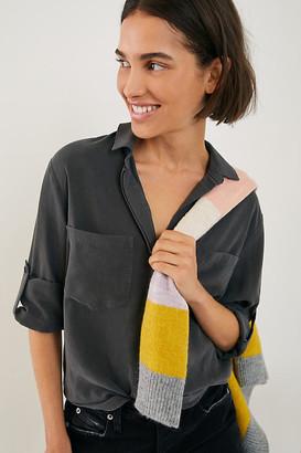 Cloth & Stone Ava Split-Back Buttondown By in Grey Size XS