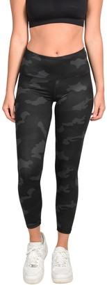 90 Degree By Reflex Yogalicious Luxe Camo High Waisted Ankle Leggings