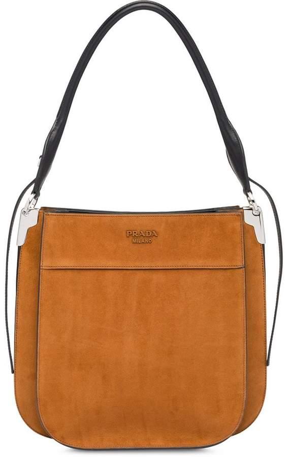 2d57d8d44478 Prada Suede Handbag - ShopStyle
