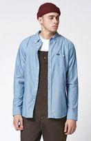 Brixton Central Light Blue Long Sleeve Button Up Shirt