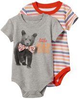 Baby Starters Baby Boy 2-pk. Bear Stripe Bodysuits