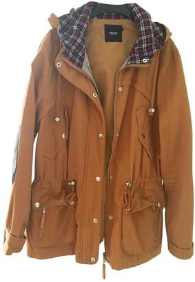Asos Orange Cotton Leather Jacket for Women