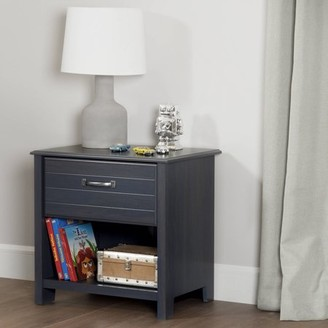 South Shore Ulysses 1-Drawer Nightstand, Blueberry