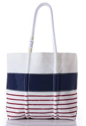 Pottery Barn Red Stripe Mariner Tote Bag