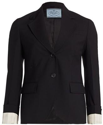 Prada Belted Wool Jacket