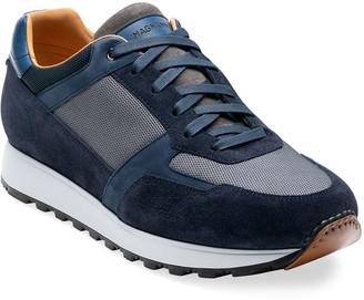Magnanni Men's Leonard Suede-Trim Sneakers