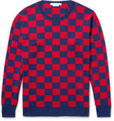 Marc Jacobs - Distressed Checkerboard Wool Sweater