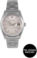 Rolex Pre-Owned Oysterdate Precision Silver Dial Stainless Steel Mens Watch Ref 6694