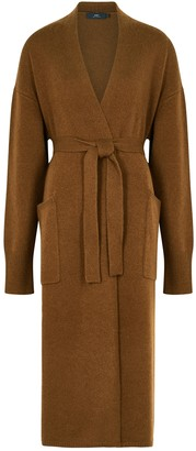 Arch4 Franklin Brown Belted Cashmere Cardigan