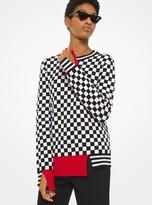 Michael Kors Checkerboard Cashmere Sweater