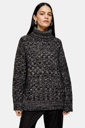 Topshop Womens **Funnel Neck Jumper By Boutique - Multi