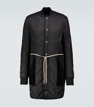 Rick Owens Padded collarless coat