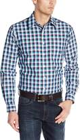Cinch Men's Modern Fit Long Sleeve Plaid with Single Open Pocket and Button Front