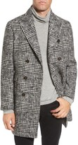 Eleventy Men's Houndstooth Wool Blend Peacoat