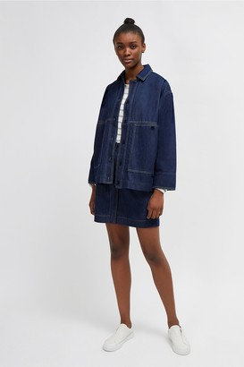 French Connection Jule Contrast Stitch Utility Jacket