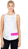 Betsey Johnson Floral Tank With Solid Bar