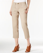Style&Co. Style & Co. Cropped Frayed-Hem Pants, Only at Macy's