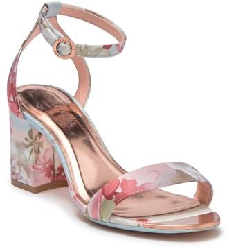 Ted Baker Rozie Printed Block Heel Sandal