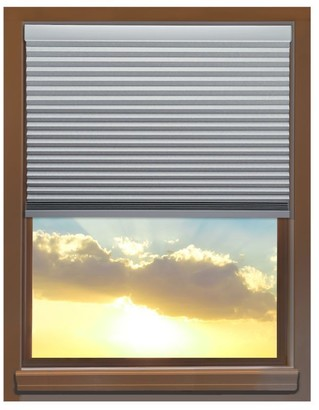 Linen Avenue Custom Cordless 60 to 61-inch Wide Platinum Blackout Cellular Window Shade