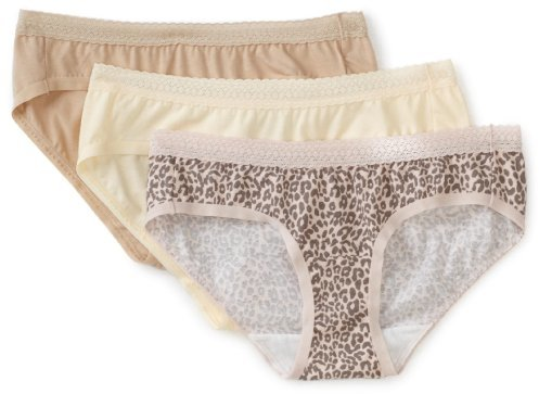 Vanity Fair Women's True Comfort Lace Stretch Hi-Cut Panties Underwear 3-Pack