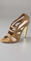 L.a.m.b. Dominica Gold Heel Sandals