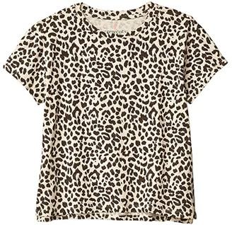 crewcuts by J.Crew Graphic Tee (Toddler/Little Kids/Big Kids) (Natural/Brown) Girl's Clothing