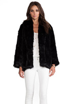 Alice + Olivia Alita Oversized Shawl Collar Faux Fur Coat