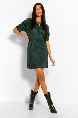 boohoo Animal Jaquard Shift Dress