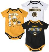 Reebok Baby Boston Bruins 3-pc. Bodysuit Set