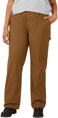 Dickies Women's Plus Size Relaxed Straight Carpenter Pant