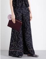 Roksanda Printed wide-leg silk-twill trousers