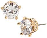 Betsey Johnson Betsey Blue Crown Stud Gold Earrings