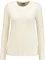 Theory Barda ribbed wool and cashmere-blend sweater