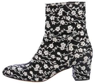 Aquazzura Embroidered Brooklyn Ankle Boots