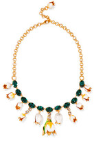 Dolce & Gabbana Gold-Plated, Swarovski Crystal And Enamel Necklace