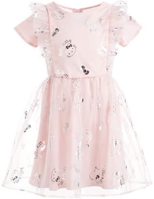 Hello Kitty Little Girls Ruffled Mesh Dress