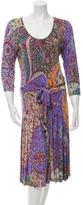Etro Long Sleeve Midi Dress