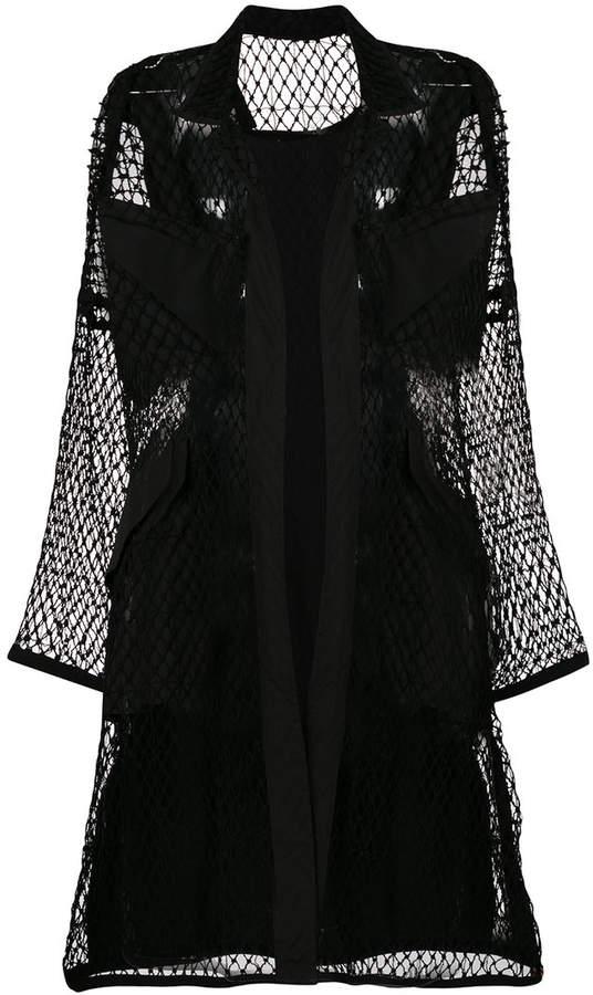 Yohji Yamamoto fishnet coat