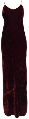 Nili Lotan Burgundy Velvet Dress for Women